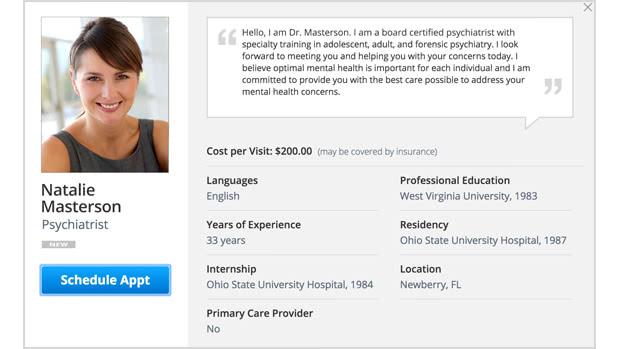 Online Psychiatrists Amwell